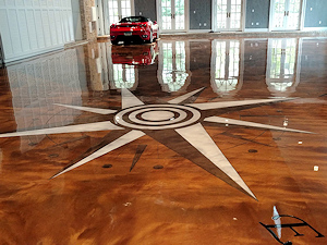 Stunning metallic epoxy floor