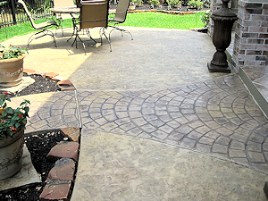 New stamped concrete featuring a European Fan pattern
