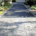 stamped driveway entrance with borders